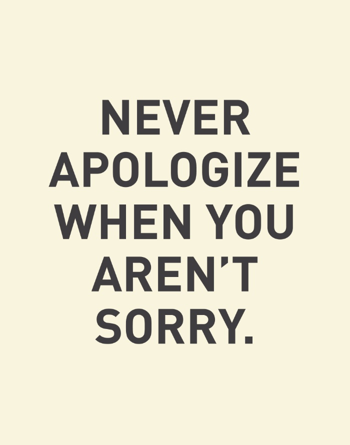 how to stop saying sorry